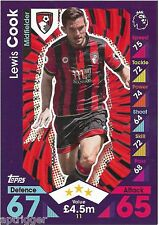 2016 / 2017 EPL Match Attax Base Card (11) Lewis COOK AFC Bournemouth