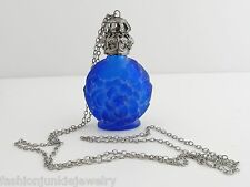 Glass Perfume Bottle Necklace in Blue *NEW* Perfume Holder Bottle Scent
