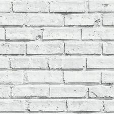 Set cameretta Sfondo Bianco Mattone - Arthouse 623.004