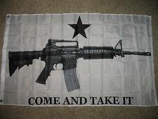 """3'x5' """"Come and Take It"""" M-4 Assault Rifle American Flag, carbine, gun, us, gonz"""