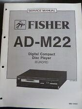 Original Service Manual Fisher Digital Compact Disc Player AD-M22