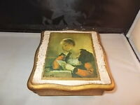 """VTG  WOOD PAINTED JEWELRY - MUSIC  -  BOX - """"SOME WHERE MY LOVE"""" MADE IN JAPAN"""
