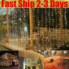 Cortina De Luces Bombillas 3x3M 300 Led Interior/Exterior Jardín Boda Fiesta Navidad
