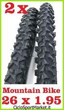 2 x Tyres for bicycle Bike MTB Mountain Bike Size 26 x 1.95 - NERO