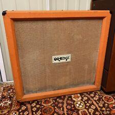 Vintage 1970s Orange 4x12 Straight Amplifier Cab Cabinet w/ Celestion BL12-100
