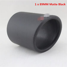 Car 89mm 100% Real Carbon Fiber Exhaust pipe Cover Muffler Pipe Tip  Accessories