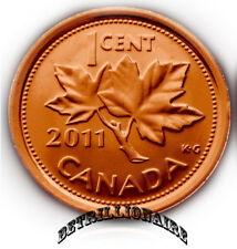 2011 CANADA 1 CENT CANADIN PENNY, MAGNETIC. UNC. ONE CENT. US SELLER.