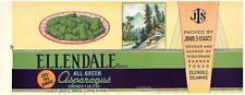 Wholesale Dealer's Lot 25 Ellandale Brand Asparagus Can Labels Ellandale, De.