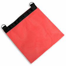 "2 Safety Flags 18"" x 18"" HD Safety Orange Mesh DOT Compliant Truck Trailer Flag"