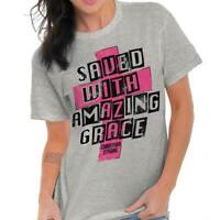 Amazing Grace Religious Gifts Jesus Christ Cool Christian Ladies T Shirt
