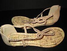 Beige Gemstone Strap Sandals by Cato, Size 10M, NEW