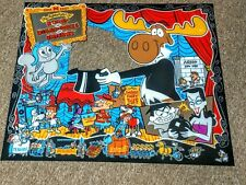 DATA EAST Rocky & Bullwinkle Pinball Machine Next Gen Translite backglass