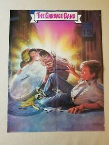 """1987 Garbage Pail Kids the Movie Double-Sided The Garbage Gang Poster 16"""" x 21"""""""