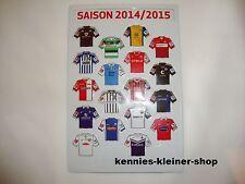 2.Bundesliga Magnet-Trikot-Pins 14/15 Liga Pin DFL 2014/2015 Neu Magnet Tabelle