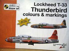 LOCKHEED T BOOK & DECALS by 4+(MKD72008)-LOCKHEED T-33-1:72