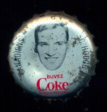 1964 65 COCA-COLA COKE BOTTLE CAP With CORK Charlie Hodge MONTREAL CANADIENS