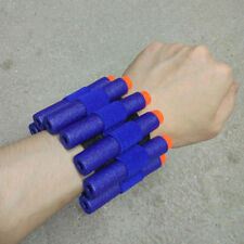 10PCS Dark-Blue Bullet Dart + 1PCS Storage Wrist Belt for Nerf N-Strike Gun