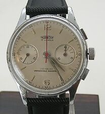 Vintage 1950's Aureole Landeron 148 Men's Chronograph Watch Chrome Plated Works
