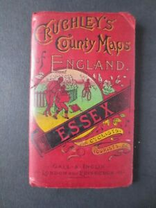 REAL MAP from 1875 Great Gift Idea! Crutchley Gall Inglis Folding Essex London