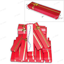 LOT OF 15 RED BRACELET BOXES w/BOW TIE JEWELRY GIF BOXES RED WATCH BOXES <DEAL>