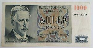 1000 Francs Frank 1950, 02-10-1950  centenaire Biljet, België, Belgique #F5#