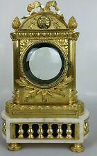 Caisse ,cabinet de pendule XVIII Epoque louis XVI en bronze doré , marbre blanc