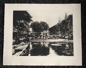 "NORMAN ACKROYD RA 1938 ""Chateau La Mission Haut Brion"" Limited Ed ETCHING ed 150"