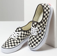 VANS Classic Authentic Golden Coast Checkerboard (VN000W4NDI01), Canvas Sneakers