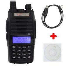 TONFA TF-Q5 FM UHF+VHF Dual Band Walkie Talkie Ham 10W Two-way Radio+ USB Cable