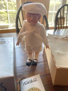 Faith Wick Porcelain Doll 1984 Richie Sunday Best GUC In Box