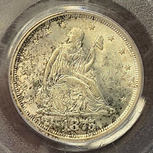 1875 S  20 ¢ PCGS MS63 Great Luster With Nice Toning