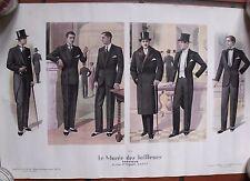 ▬►AFFICHE MODE MASCULINE LE MUSÉE DES TAILLEURS DARROUX  Décembre Janvier 1929