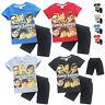 Fgteev Game Rob Cotton Top Boys Children's Summer suit  Short T-shirt Tee+Shorts