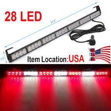 """31""""28 LED Emergency Warning Light Bar Traffic Flash Strobe light Red&White CF"""