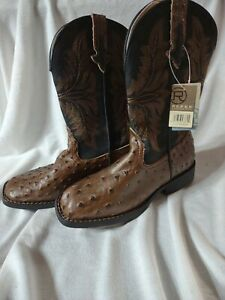 """Roper Size 2 Little Kids Cowboy Boots """"Wear the West"""" Boys NEW WITH TAGS"""