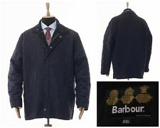 Mens BARBOUR Polarquilt Quilted Jacket Coat Navy Blue Size 2XL