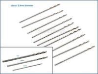 10Pc 0.8mm HSS Micro Mini Steel Twist Drill Bit Straight Shank Shaft Rotary Tool