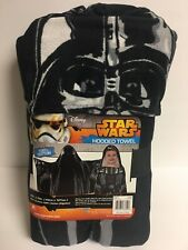 "Disney ""Star Wars Darth Vader"" Child's Hooded Bath/Beach Towel Wrap - NEW w/Tags"