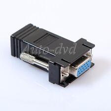 1pcs VGA Male SVGA to RJ45 Video Extender Adapters HD15 to CAT5e CAT6
