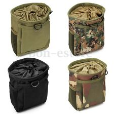 Military Molle Belt Tactical Paintball Magazine Dump Drop Reloader Pouch Bag HOT