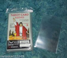 "78 Protective Card Sleeves NEW 2.76"" x 4.72"" Tarot Oracle Playing Cards No PVC"