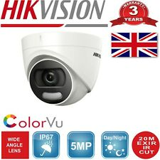 HIKVISION CCTV IP67 5MP COLORVU HDTVI CAMERA 24-HOUR SMART LIGHT VIDEO UK spec
