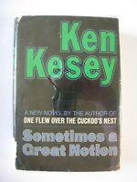 SOMETIMES A GREAT NOTION Ken Kesey 1964 1st Ed HC/DJ free S/H
