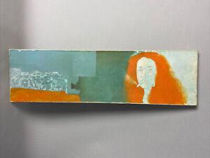Vintage ,  20th Century Oil Paintig ,portrait ,  Woman With Orange Hair Smoking