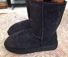 UGG Australia classic short black women's winter boots #5825 Size 8 US tall   eBay