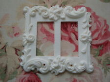 Shabby & Chic Roses & Flourish Two Rocker Wall Plate French Country