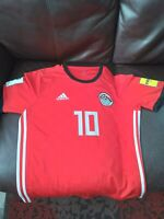2018 Egypt Home Jersey #10 Mohamed Salah Large (L) Red Adidas World Cup Soccer