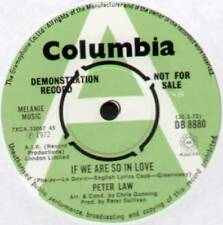 """[COOK / GREENAWAY] PETER LAW ~ IF WE ARE SO IN LOVE ~ 1972 UK """"DEMO"""" 7"""" SINGLE"""