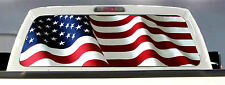 AMERICAN FLAG PICK-UP TRUCK BACK WINDOW GRAPHIC DECAL PERFORATED VINYL .TINT,.