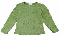 JACADI Girl's Avivage Green Floral LS Round Neck T-Shirt Size 4 Years NWT $42